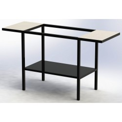 Table acier peint avec 2...