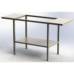 Table Inox avec 2 tablettes