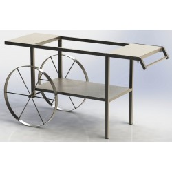 Chariot double tablette,...